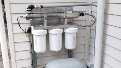 3 pre filter UV filtration system for clean drinking water