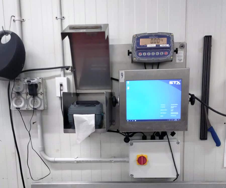 1 of 5 junction boxes for a wet plant - Junction box installation at a wet plant